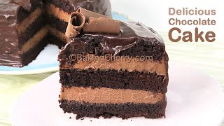 DELICIOUS CHOCOLATE CAKE RECIPE | How To Make A Tasty Layered Cake | Dessert Ideas | Baking Cherry