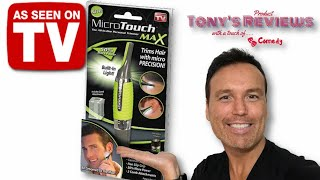 Micro Touch Max Hair Trimmer Review  As Seen On TV