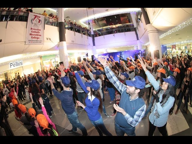 Flash mob, Mesrobian College's 75th anniversary, City Mall