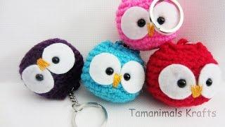 Crochet  Owl Ornament/Key Chain Tutorial