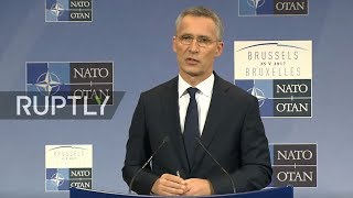 LIVE: NATO Summit in Brussels: press conference by Stoltenberg