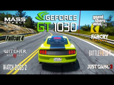 NVIDIA GT 1030 Test in 9 Games (i3 6100)