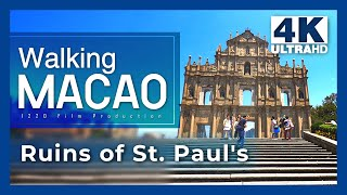 【Walking Macao 4K】 Senado Square to Mount Fortress (Under COVID-19)