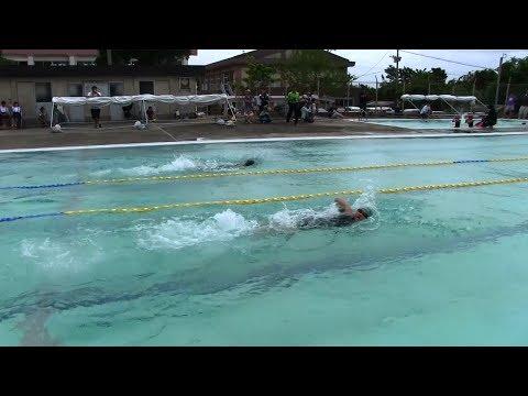 種子島の学校活動:島間小学校校内水泳大会2018年