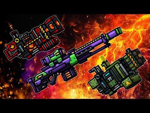 Lava Thrower + Eva + Meteor Shower - Pixel Gun 3D