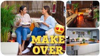 Balkon verschönern MAKE-OVER mit SafaLiving / Balkon einrichten / Wohnküche / Einrichtungs Tipps