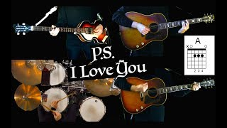 P.S. I Love You - Instrumental Cover - Guitars, Bass and Drums
