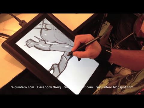 Wacom CintiQ 13HD Review + Drawing Demo