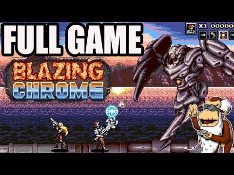 Blazing Chrome Longplay - Full Game - 1080p - No commentary