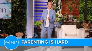 Ellen Warns First-Time Parents About How Parenting Is Hard