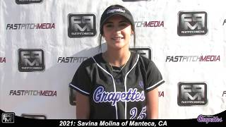 2021 Savina Molina Second Base Softball Skills Video - Grapettes 18 Gold