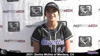 2021 Savina Molina Second Base Softball Skills Video - Grapettes 18 Gold