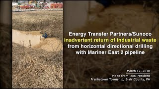Video: ME2 Pipeline Inadvertent Return in Susquehanna River Watershed