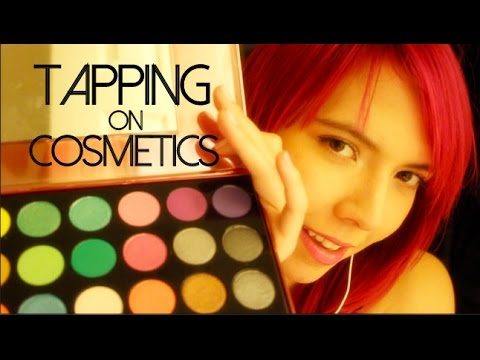 ASMR Tapping on Bottles and Makeup