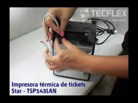 TECFLEX - Impresora de tickets con conexión Ethernet - Star TSP143LAN