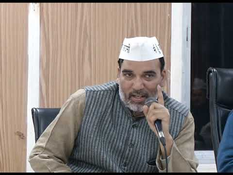 Delhi Convenor Gopal Rai Addresses at Lok Sabha Meeting for Upcoming Election