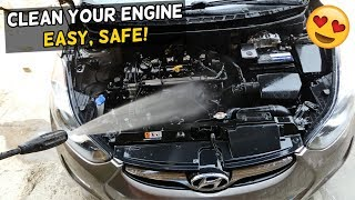 HOW TO WASH CAR ENGINE. Safe and Cheap