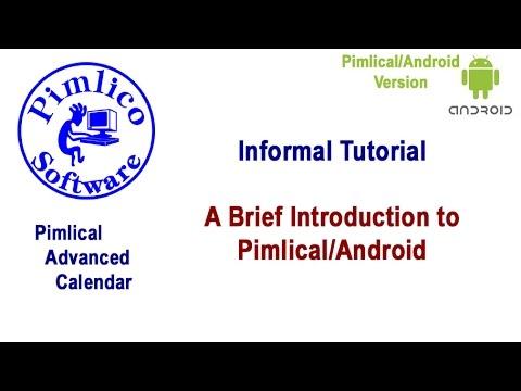 Video of Pimlical Advanced Calendar/PIM