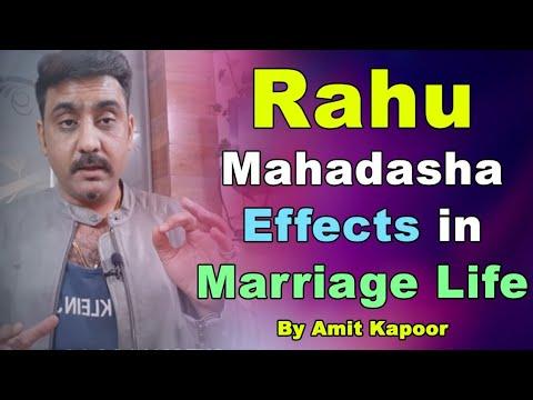 Rahu Mahadasha Effects in Marriage Life By #ASTROLOGERAMITKAPOOR