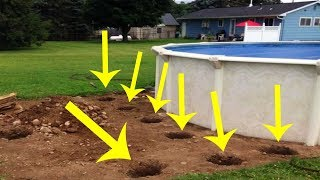 Man Drilling Holes In Yard Confuses His Neighbors But Leaves Them Stunned Days Later