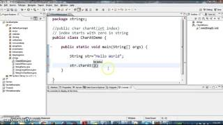 How to get the character in a String in java?