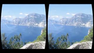 Trip to italy in VR: Travel on Capri bus ride POV cab view Oculus Rift amazing video 2017
