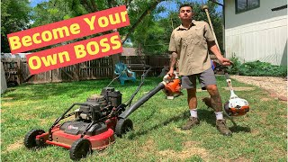 🌿 $535 in 5 HOURS 💰 Self-Employed Solo Mowing Business ☘️ How To Start & GROW Lawn Care Business 😎