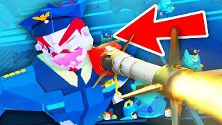 ROCKET LAUNCHER MISSILE vs ZOMBIE POLICE BOSS (Throw Anything VR HTC Vive Funny Gameplay)