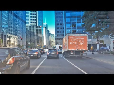 Driving Downtown - Montreal's Main Street - Canada