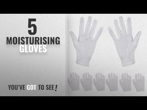 Top 10 Moisturising Gloves [2018]: Aboat 6 Pairs Hand Moisturizing Gloves,White Cotton Gloves for