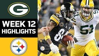 Packers vs. Steelers | NFL Week 12 Game Highlights
