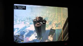 preview picture of video 'GTA V Gameplay -  Skydive Parachute US Building'