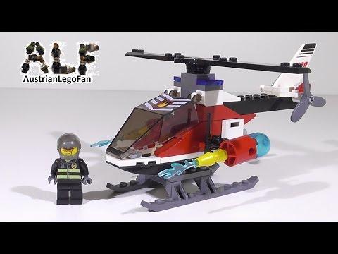 Vidéo LEGO City 7238 : L'hélicoptère de pompiers