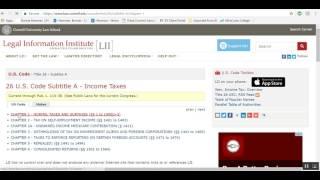 IRS website and Internal Revenue Code walkthrough