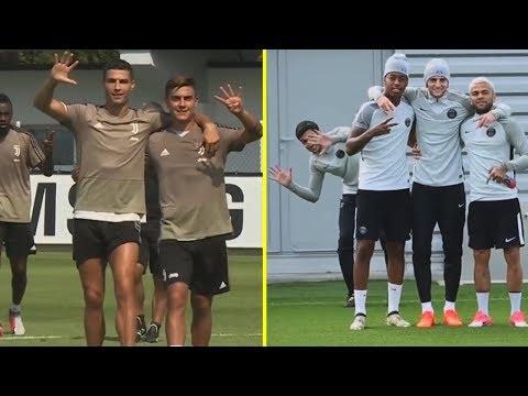 MOMENTOS DIVERTIDOS EN EL ENTRENAMIENTO ● Neymar, Mbappe, Lionel Messi, Cristiano Ronaldo & Mas