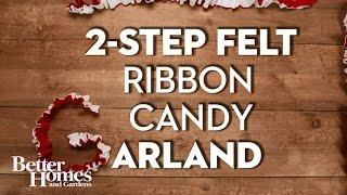 2-Step Felt Christmas Tree Garland