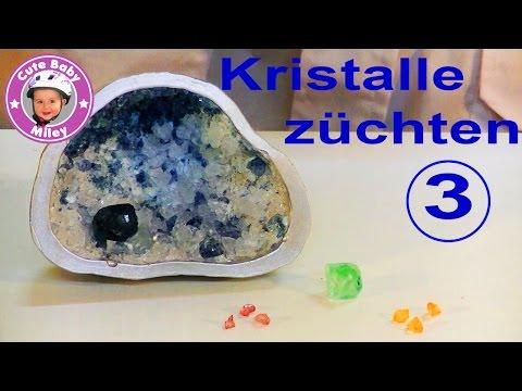 Kristalle selbst züchten Basis Set Galileo Pro7 Clementoni Test Experiment Teil 3 - Kinderkanal