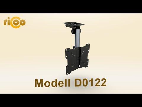 RICOO® | D0122 | TV Deckenhalterung Schwenkbar | Stufenlos ein- / ausklappbar | LCD LED Monitor