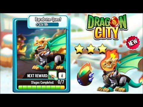 Dragon City - Barebone Dragon [Barebone Quest | Full Fight & Combat 2018]