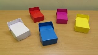 How To Make A Paper Bed ( Home Made) - Easy Origami Doll House Bed Tutorials