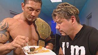Batista steals Eddie Guerrero's dinner: SmackDown, Sept. 30, 2005