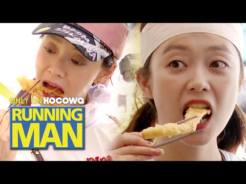 So Min & Ji Hyo's Fried Food Mukbang~! [Running Man Ep 456]