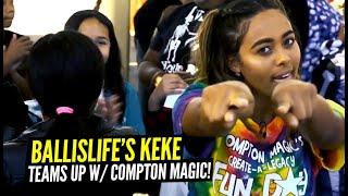 Ballislife's Keke & The Compton Magic TEAM UP & Surprise 100's Of Kids!!