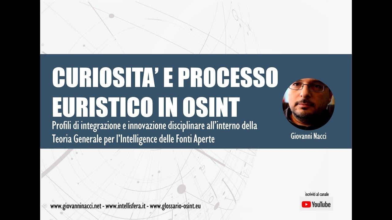 Curiosita e processo euristico in OSINT