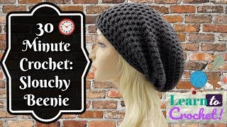 How To Crochet | Easy 30 Minute Slouchy Hat For Beginners| ❤LifeWithLisa343💋
