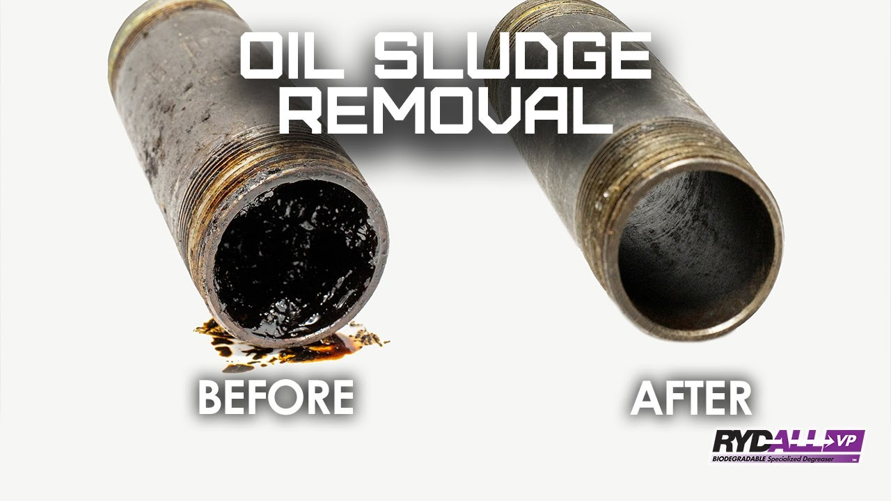 Oil Sludge Removal from Pipe with RYDALL VP Specialized Degreaser