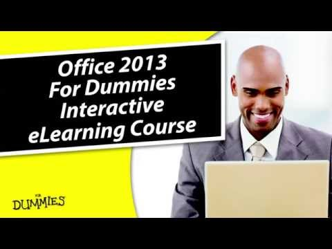 Office 2013 For Dummies Interactive eLearning Course - YouTube