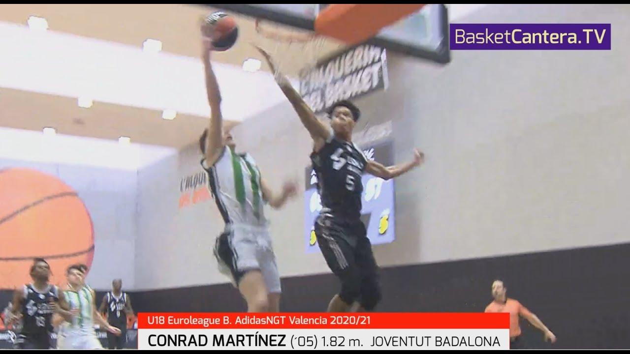 CONRAD MARTÍNEZ ('05) 1.82 m. Joventut.  Euroleague B. AdidasNGT. Valencia 20/21 #BasketCantera.TV