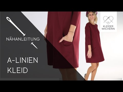 """Einfaches Kleid nähen (Damen) - Das perfekte Wohlfühlkleid """"A-Linien Kleid ALEXA"""""""