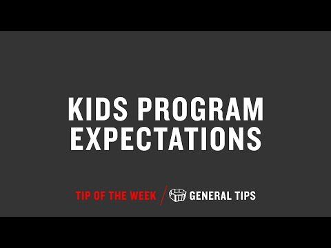 Kids Program Expectations